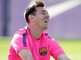 Lionel Messi and his Barcelona team-mates train 14 hours after  Ajax clash