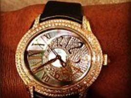 serena williams says 'diamonds are a girls best friend' as she shows off £45k watch